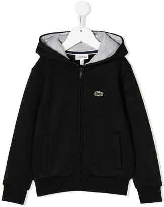 Lacoste Kids embroidered logo hoodie