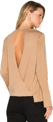 BCBGMAXAZRIA Open Back Sweater $198 thestylecure.com