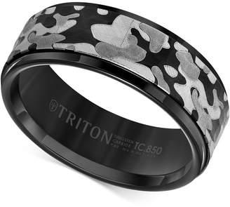 Triton Laser-Engraved Camo Band in Black Tungsten Carbide