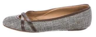 Marni Woven Round-Toe Flats