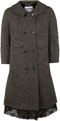 Moschino Lace Trimmed Coat