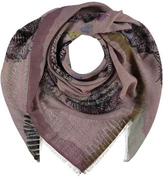 Fraas Trendy Chickens Wool-Blend Square Scarf