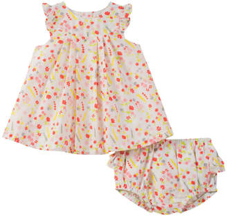 Absorba Floral Dress & Bloomer Set