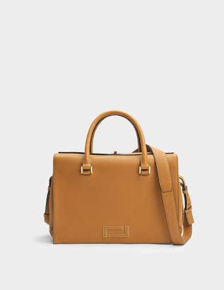 Lancel Pia Tote Bag in Camel Grained Leather