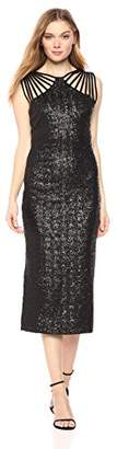 Dress the Population Women's Gwen Cutout Stretch Midi Dress
