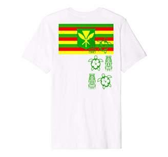 Kanaka Maoli Hawaii Flag Hawaiian Pride T-Shirt