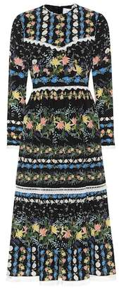 Erdem Georgie printed silk crêpe dress