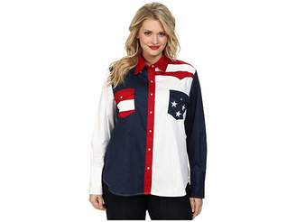 Roper Plus Size Pieced Stars and Stripes Patriotic