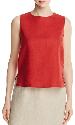 Eileen Fisher Petites Organic Linen Round Neck Tank $138 thestylecure.com