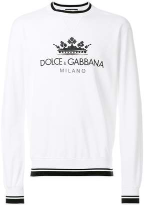 Dolce & Gabbana crown logo print sweatshirt