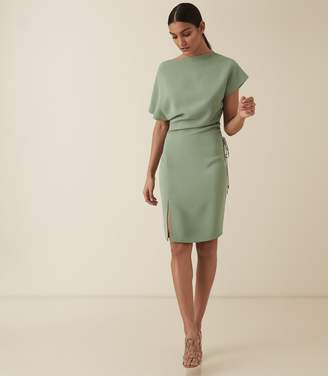 Reiss MARCIA WAIST DETAIL DRESS Pale Green