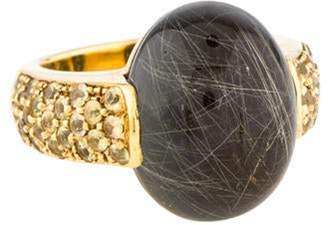 Roberto Coin 18K Rutilated Quartz & Sapphire Fantasia Ring yellow 18K Rutilated Quartz & Sapphire Fantasia Ring