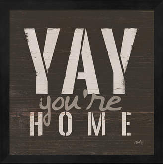 Metaverse Yay You'Re Home By Misty Michelle Framed Art