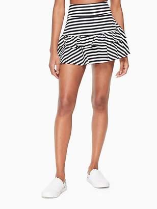 Kate Spade Stripe ruffle tennis skirt