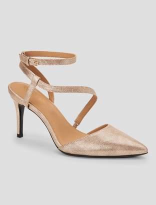 Calvin Klein ganya metallic strap pump