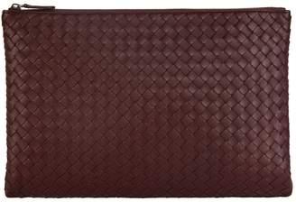 Bottega Veneta Large Leather Intrecciato Pouch
