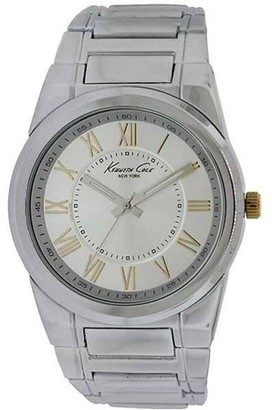 Kenneth Cole New York Kenneth Cole KCW3032 Men's Silver Steel Band With Silver Analog Dial Watch NWT