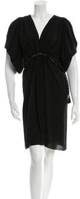 Lanvin Embellished V-Neck Dress w/ Tags