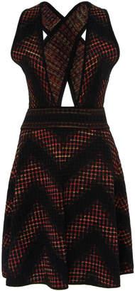 M Missoni Short Jacquard Dress With Criss Cross Back