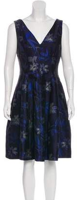 Halston Sleeveless Printed Dress