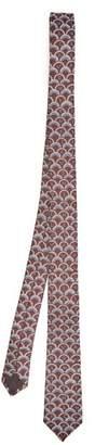 Valentino Scale Silk Tie - Mens - Navy Multi