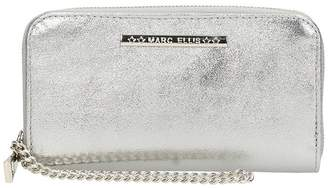 Marc Ellis Silver Laminated Leather Wallet
