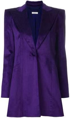 Nina Ricci peak-lapel longline velvet jacket