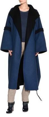 Agnona Bicolor Double-Face Cashmere Coat