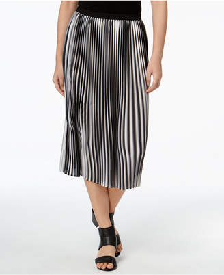 Eileen Fisher Recycled Polyester A-Line Pleated Midi Skirt, Regular & Petite