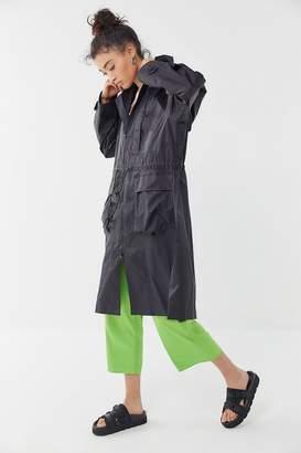 Urban Outfitters Riki Hooded Longline Windbreaker Jacket
