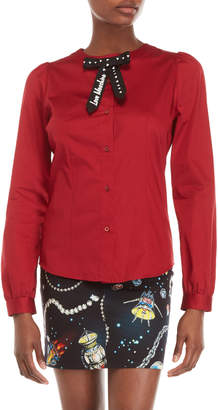 Love Moschino Red Bow Shirt