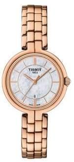 Tissot T-Lady Flamingo Stainless Steel Bracelet Watch