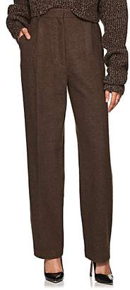 The Row Women's Nikah Wool-Cashmere High-Waist Trousers - Brown