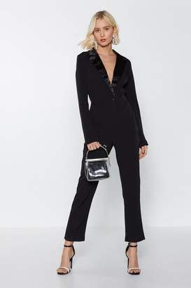 Nasty Gal Woman of the Hour Blazer Jumpsuit
