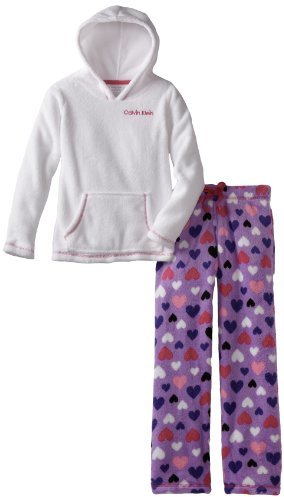 Calvin Klein Big Girls' 2 Piece Heart Sleep Set