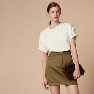 Sandro Short skirt with visible fastening