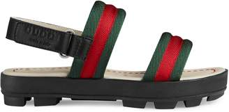 Gucci Children's leather and Web sandal