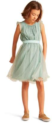 Christina Wild & Gorgeous Dot Tulle Fit & Flare Dress