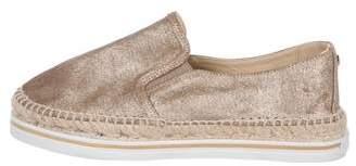 Jimmy Choo Leather Espadrille Flats