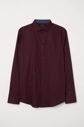 H&M Premium Cotton Shirt - Red