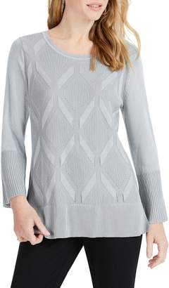 Foxcroft Dion Diamond Pattern Sweater