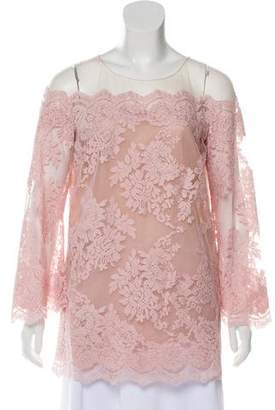 Marchesa Long Sleeve Lace Blouse w/ Tags