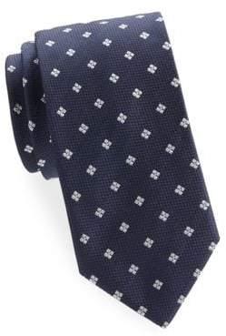 Brioni Embroidered Floral Silk Tie