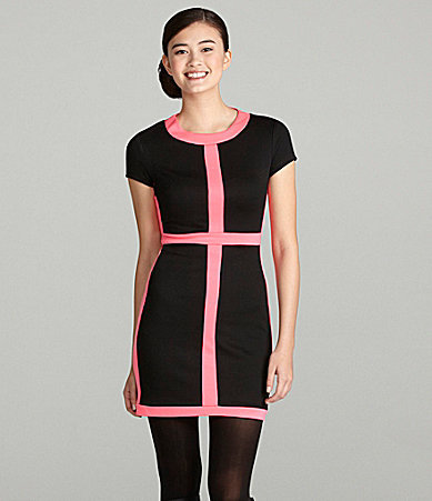 B. Darlin Short-Sleeve Colorblock Dress