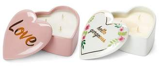 Tricoastal Design Tri-Coastal Design Heart Candle Duo - Set of 2