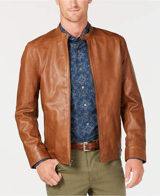 Tasso Elba Men Pietro Leather Jacket