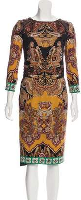 Etro Wool Midi Dress