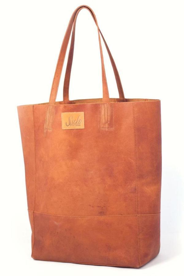 Sseko Designs Leather Bucket Bag