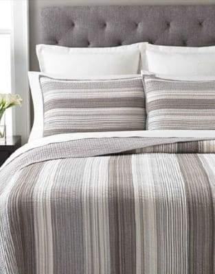 Martha Stewart Garrison Stripe Neutral Quilt