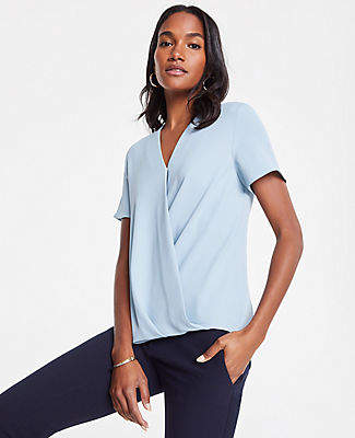 Ann Taylor Wrap Front Tee